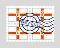 Northern ireland flag on postage stamps Stock Image