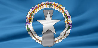 Flag of the Northern Mariana Islands Stock Photos