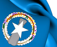 Flag of Northern Mariana Islands Royalty Free Stock Photo