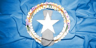 Flag of Northern Mariana Islands. Royalty Free Stock Photo