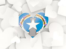 Flag of northern mariana islands, heart shaped stickers Royalty Free Stock Photo