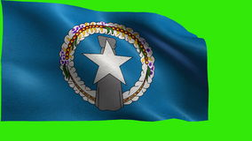 Flag of Northern Mariana Islands, MP, Saipan, State of The United States of America, USA state - LOOP. Beautiful 3d flag animation on green/blue screen in 4k stock video