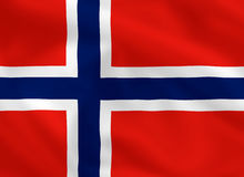 Flag of Norway. Norwegian waving flag (background or wallpaper Royalty Free Stock Photography