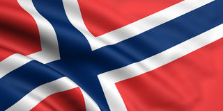 Flag Of Norway. 3d rendered and waving flag of norway