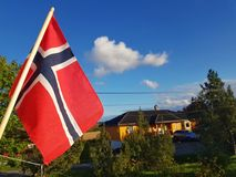 A flag of Norway stock photo