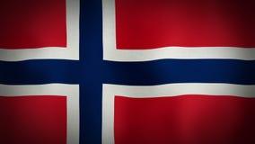 Flag Norway stock video