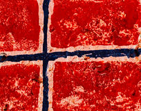 Flag of Norway on concrete wall Royalty Free Stock Photos