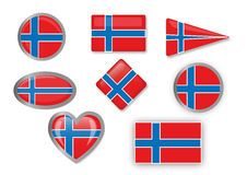 Flag of Norway. For different use by designers and printers Royalty Free Stock Photography