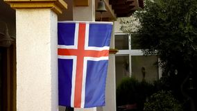 Flag of Norway. Blowing in the breeze in Spain stock video footage