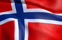 Flag of Norway. 3D rendering stock illustration