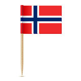 Flag of Norway. Flag toothpick 10eps Stock Photo