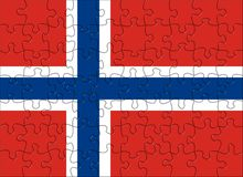 Flag of  Norway puzzle Royalty Free Stock Image
