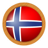 Flag of Norway in round icon Stock Photography