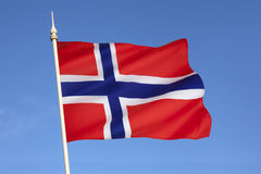 Flag of Norway - Scandinavia - Europe Royalty Free Stock Photography