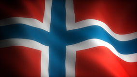 Flag of Norway stock illustration