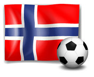 The flag of Norway with a soccer ball Royalty Free Stock Image
