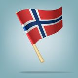 Flag of Norway, Vector illustration Stock Images