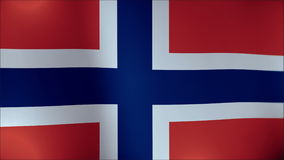 Flag of Norway waving in the wind. Seamless loop with high quality fabric material. stock video footage