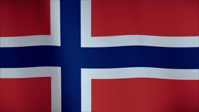 Flag of Norway waving in the wind. Seamless loop with high quality fabric material. stock video