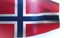 Flag of Norway waving in the wind stock video footage