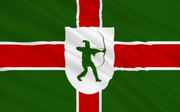Flag of Nottinghamshire is a county, England. Flag of Nottinghamshire is a county in the East Midlands of England stock photography