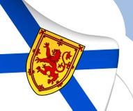 Flag of Nova Scotia, Canada. Close Up Stock Photos