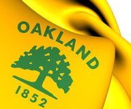 Flag of Oakland, USA. Royalty Free Stock Photos