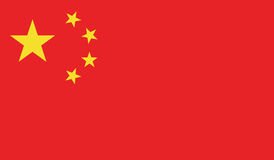 Flag Of China  Icon Illustration