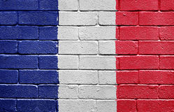 Flag Of France On Brick Wall Royalty Free Stock Image