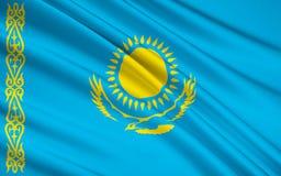 Free Flag Of Kazakhstan Royalty Free Stock Photography - 125659467