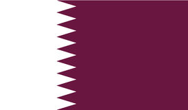 Flag Of Qatar  Icon Illustration
