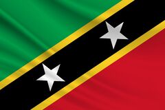Free Flag Of St. Kitts And Nevis. Fabric Texture Of The Flag Of St. Kitts And Nevis Stock Photos - 217280293