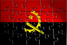 Flag ofAngola Royalty Free Stock Photography