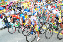 Flag off at LTDL Stage 7 Starting Point Stock Photo