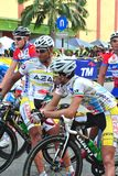 FLAG OFF AT LTDL STAGE 7 STARTING POINT Stock Photography