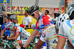 Flag off at LTDL Stage 7 Starting Point Stock Images