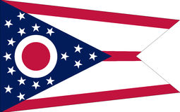 Flag of Ohio Royalty Free Stock Photography