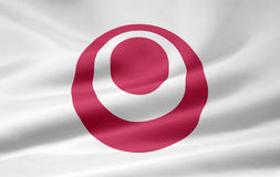 Flag of Okinawa - Japan royalty free stock images