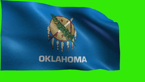 Flag of Oklahoma, OK, Oklahoma City, November 16 1907, State of The United States of America, USA state - LOOP stock video footage