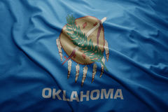 Flag of Oklahoma state. Waving colorful Oklahoma state flag Royalty Free Stock Photo