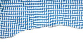 The flag of the oktoberfest flutters in the wind on the part of the screen, the animation of the national traditional royalty free stock images