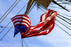 Flag on Old Ironside Royalty Free Stock Photography