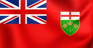 Flag of Ontario, Canada. Royalty Free Stock Photo