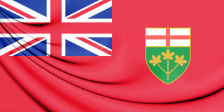 Flag of Ontario, Canada. 3D Illustration. Stock Images