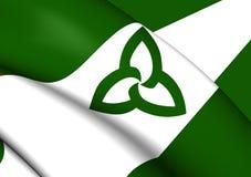 Flag of Ontario Green Ensign, Canada. Royalty Free Stock Photography