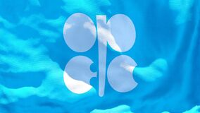 The flag of OPEC flutters in the wind