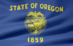 Flag of Oregon. A very large version of the flag of Oregon Royalty Free Stock Photos
