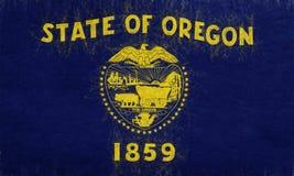 Flag of Oregon Grunge Stock Photos