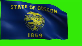 Flag of Oregon, OR, Salem, Portland, February 14 1859, State of The United States of America, USA state - LOOP stock footage