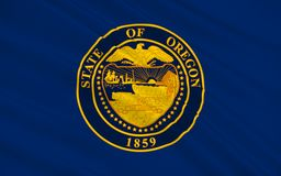 Flag of Oregon, USA. Flag of Oregon is a state in the Pacific Northwest region of the United States Royalty Free Stock Photo